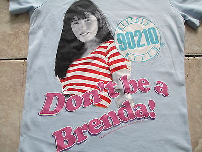 Beverly Hills 90210 Brenda Walsh Don't Be a Brenda Blue T Shirt Size XS X-Small