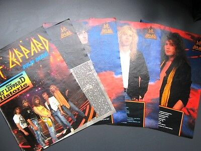 DEF LEPPARD - History - 1989 - 11 page magazine feature