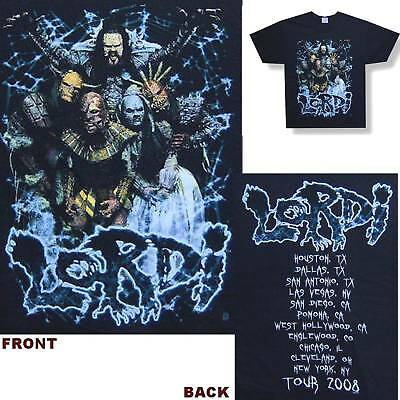 Lordi! Spiderweb/2008 Tour Black T-Shirt Small New!