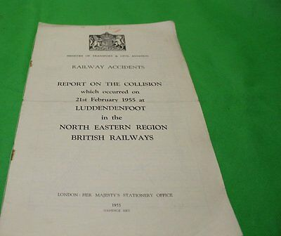 Ministry Of Transport Railway Accident Report Collision Luddendenfoot 1955