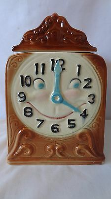 Brush McCoy Pottery Clock With Face 1956 W20 Cookie Jar #J55.