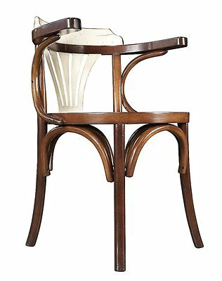 G689: Bugholz Armchair, Viennese Coffee house chair with Backrest, White