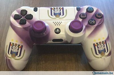 manette controller pad ps4 playstation 4 sony rsca anderlecht mauve blanc