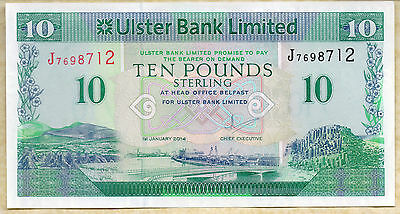 ULSTER bank LTD Belfast £10 ten pound banknote 2012 2014 Real local currency