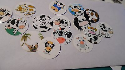 Pre Cut One Inch Bottle Cap Image COW Free Shipping