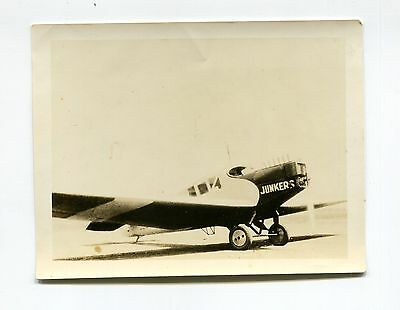 Vintage Photo early aviation JUNKERS AIRPLANE
