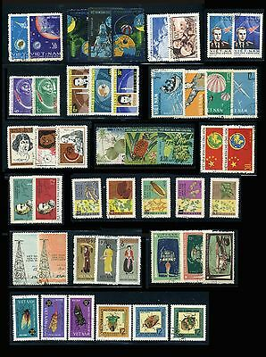 North Vietnam Lot of 16 Different Complete Sets: Sport, Space, Fruits... CTO