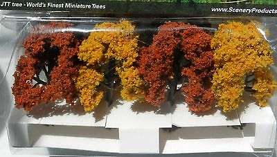 AUTUMN DECIDUOUS MODEL TREES by JTT SCENERY FOR MODEL RAILWAY HO SCALE & WARGAME