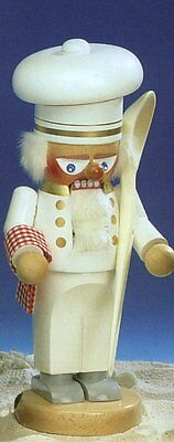 SIGNED Steinbach Chubby Cook Chef German Wooden Christmas Nutcracker New