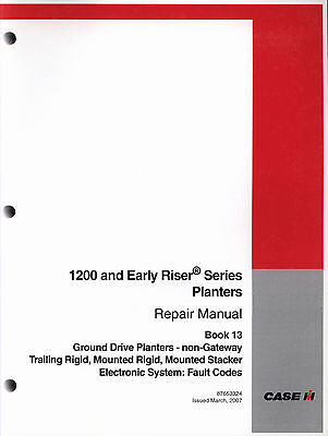 CASE IH 1200 Ground Drive Planters Repair Manual 87653324 - Electronic System