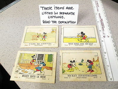 DISNEY Mickey Mouse 1936 Spain candy premium (1) big little book comic 16pg #7