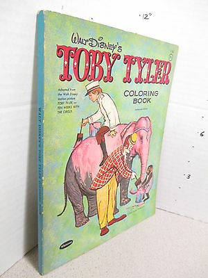DISNEY coloring book UNUSED file copy TOBY TYLER 1959 circus 128p Kevin Corcoran