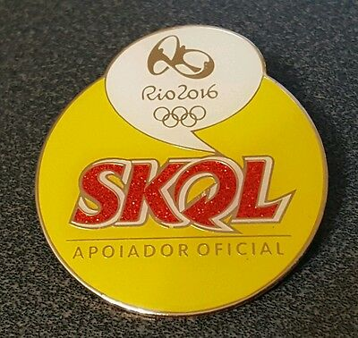 2016 Rio Brazil Olympic SKOL.BEER OFFICIAL  SUPPLIER EXTRA LARGE pin