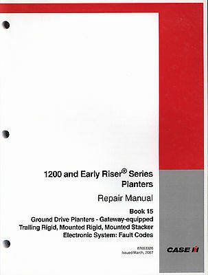 CASE IH 1200 Ground Drive Planters Repair Manual 87653326 - Electronic System