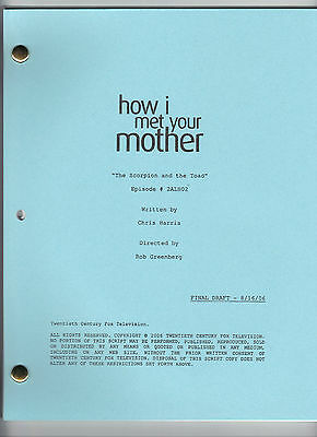 """HOW I MET YOUR MOTHER show script """"The Scorpion and The Toad """""""