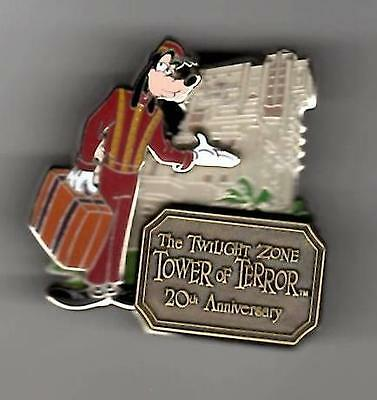 Disney Wdw Twilight Zone Tower Of Terror 20Th Anniversary Goofy Le 1500 Pin New