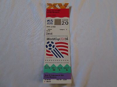 1994 USA WORLD CUP SWEDEN v RUSSIA TICKET STUB