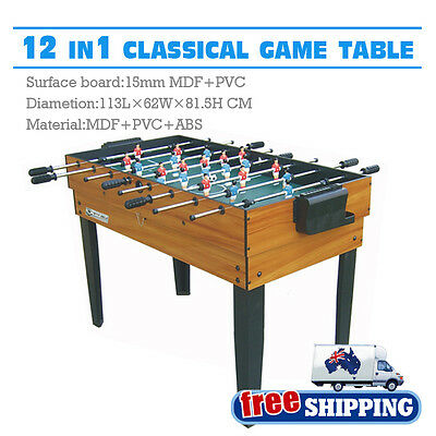 WinMax 12 In1 Classical Table Tennis Air Hockey Pool Football Soccer Game Table