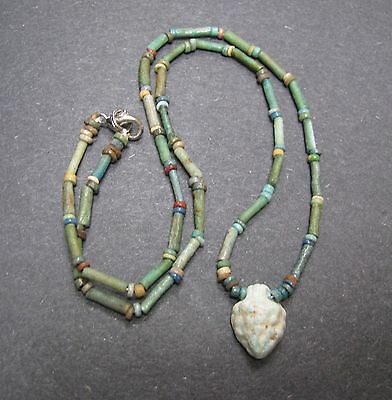 NILE  Ancient Egyptian Grape Amulet Mummy Bead Necklace ca 600 BC