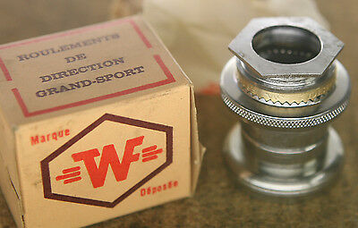 """Vintage NOS NEW French WF / TWF Grand Sport Stronglight style BSA BSC 1"""" headset"""