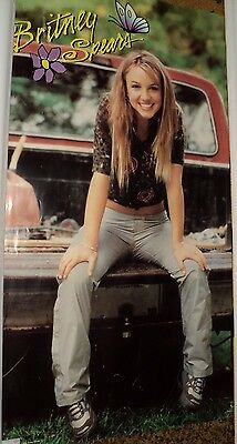 """1999 Britney Spears Poster Sitting on Pick-Up Truck 34"""" x 22"""""""