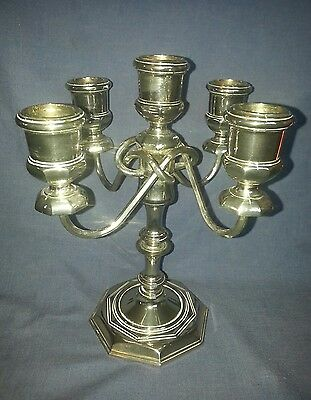 Silver Metal Silver Plate Candlestick . Silver Plated  Candelabra