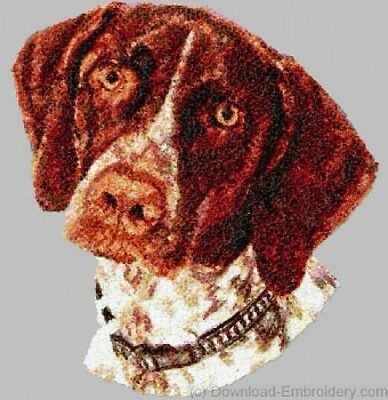 Embroidered Long-Sleeved T-Shirt - German Shorthaired Pointer DLE1542