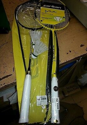 Carlton twin bag badminton racquets new un used set.