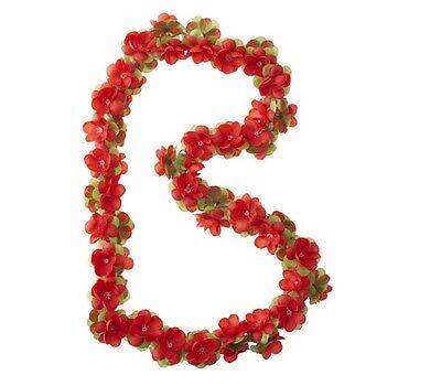 Basil Bicycle Decoration Flower Garland - Red