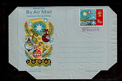 GREAT BRITAIN 5p STATIONARY CHRISTMAS STAMPED SPECIMEN !!