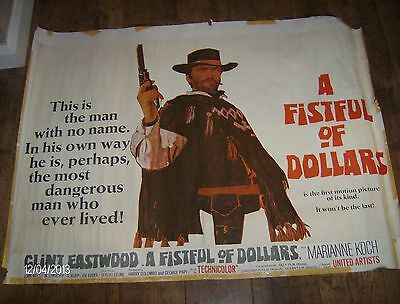 """Original Film Poster Of """" Fist Full Of Dolles"""",united Artist Release,with Faults"""