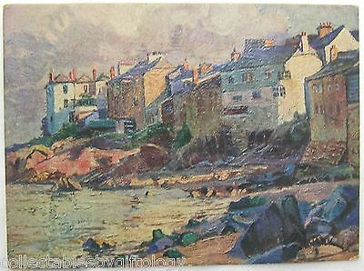 Art Oil o Graph Postcard Harbour ST IVES Cornwall The Star Post Card Vintage