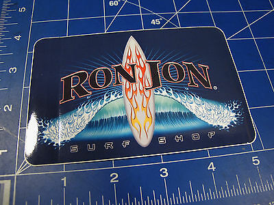 vtg* 2000's to new - Ron Jon surf sticker flames swell