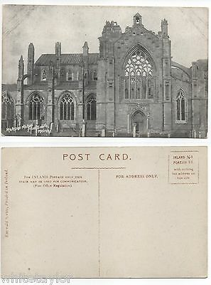Melrose Abbey From South Melrose Roxburghshire Vintage Postcard Emerald Series