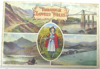 48 Views Booklet Valentine & Sons Through Lovely WALES Vintage Gift