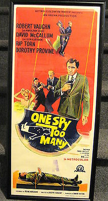 One Spy Too Many The Man From Uncle Original 32 X 14  Framed Movie Poster
