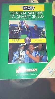 Coventry V Everton 1987 Charity Shield Programme