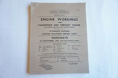 1963 Engine Workings Western Region Plymouth Division Passenger & Freight