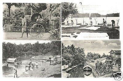 EPZ 4 Early Ethnic Postcards, Ceylon