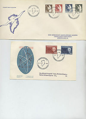Greenland 1963 all 4 Fdc covers . very fine, free shipping