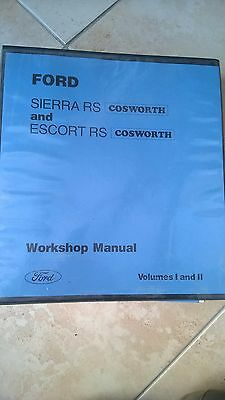 Genuine Ford Sierra Cosworth Escort Cosworth Workshop Manual excellent condtion