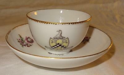 Rare Berlin Porcelain Cup & Saucer with a Scottish Armorial Crest - Circa 1775