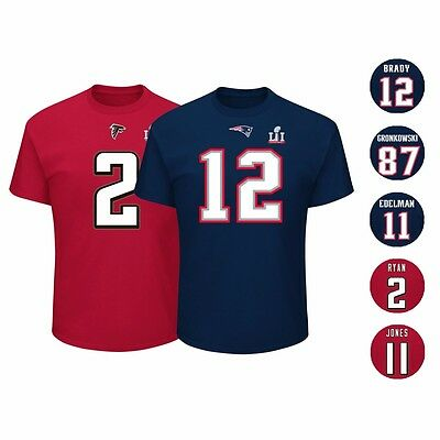 New England Patriots vs Atlanta Falcons NFL Super Bowl LI 51 Jersey T Shirt Men