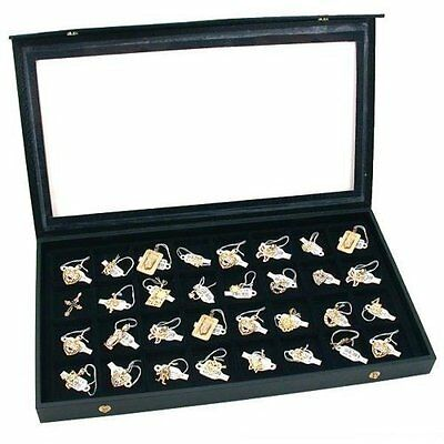 Jewelry Display Case - 32 compartments for loose jewelry items by FindingKing