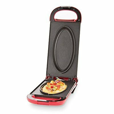 Go Omelets Maker w/ Non-Stick Cooking Surface, Red by Dash