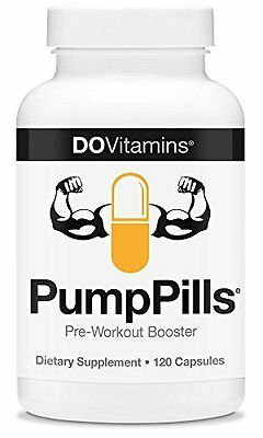 DO Vitamins Pump Pills Pre-Workout Booster - Dietary Supplement (120 capsules)