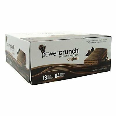 Power Crunch, Cookies & Creme - High Protein Energy Snack 1.4oz Bars, Pack of 12