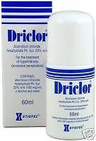 Driclor - Aluminum Chloride Hexahydrate, for the Treatment of Hyperhidrosis