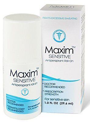 Maxim Sensitive Anti-Perspirant Roll On - Fights Excessive Sweating, 1 oz