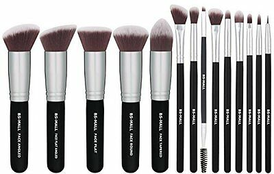 Makeup Brush Set - Eye Shadow Concealer, Synthetic Fiber Hair, 14 pcs by BS-Mall